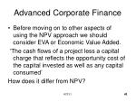 advanced corporate finance43