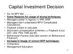 capital investment decision17