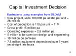 capital investment decision26