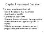 capital investment decision5