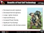 benefits of fuel cell technology