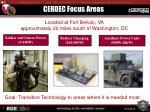 cerdec focus areas