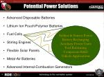potential power solutions