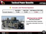 tactical power benefits