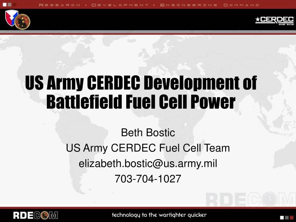 us army cerdec development of battlefield fuel cell power l.