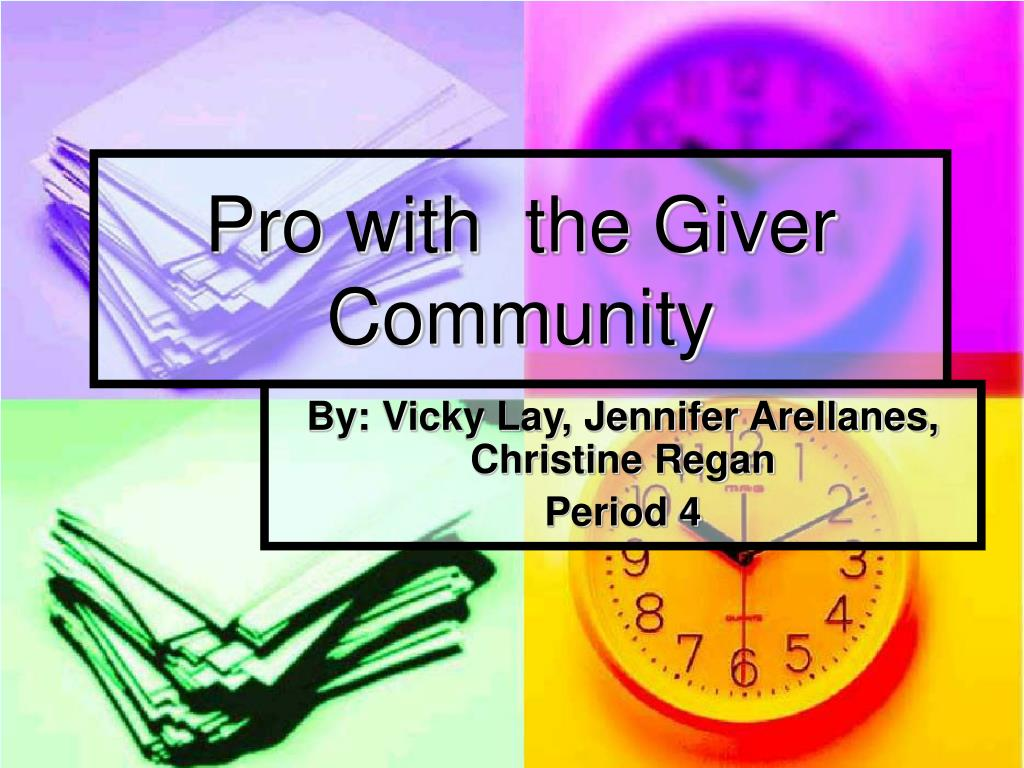 pro with the giver community l.