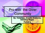 pro with the giver community