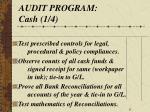 audit program cash 1 4
