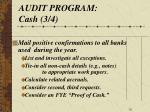 audit program cash 3 4