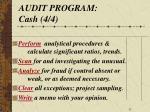 audit program cash 4 4