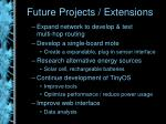 future projects extensions