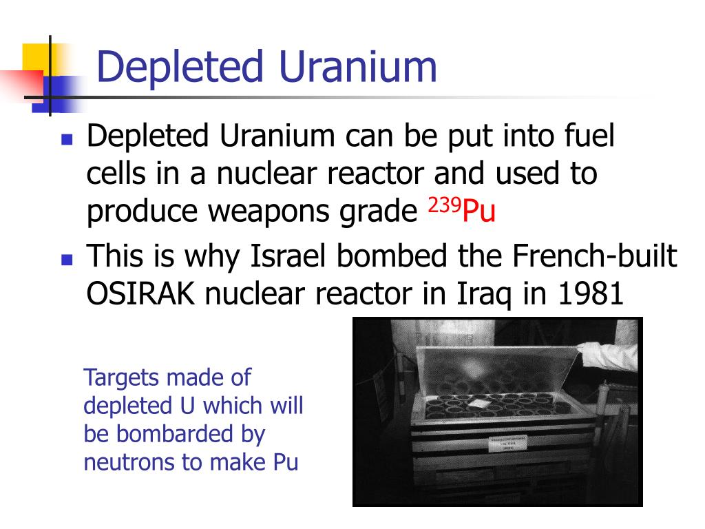 PPT - Depleted Uranium and the Gulf War(s) PowerPoint