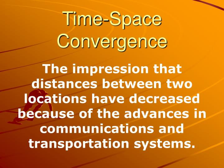 time space convergence n.
