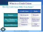 what is a credit union4