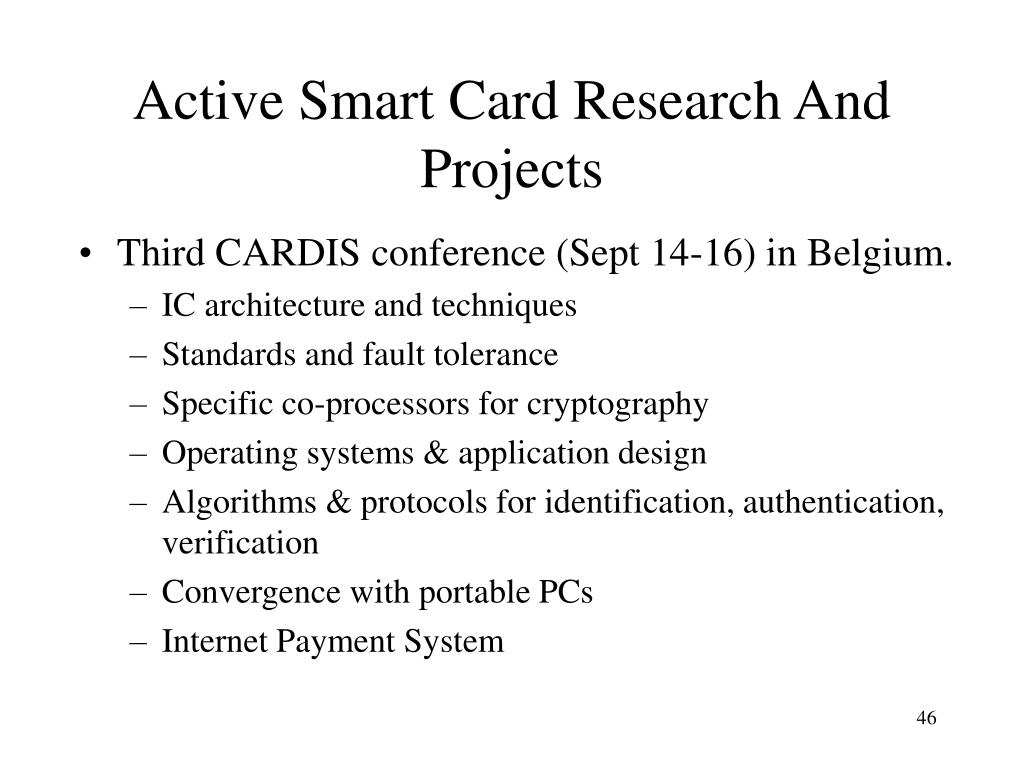 Active Smart Card Research And Projects