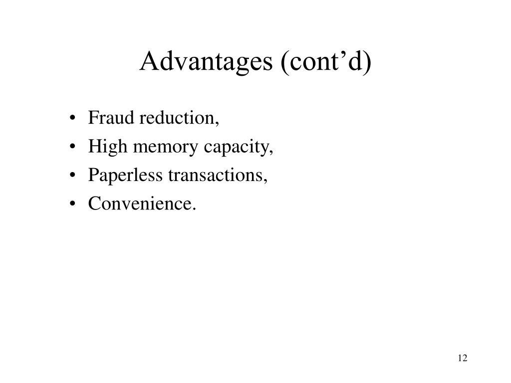 Advantages (cont'd)