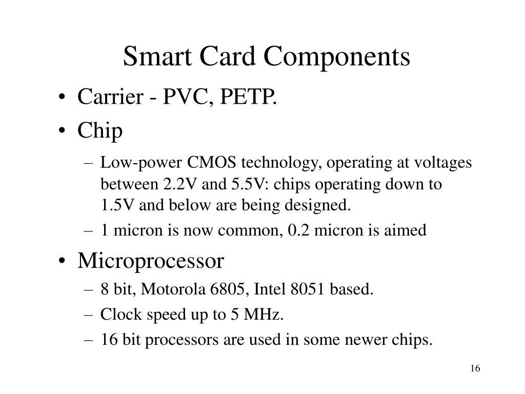 Smart Card Components