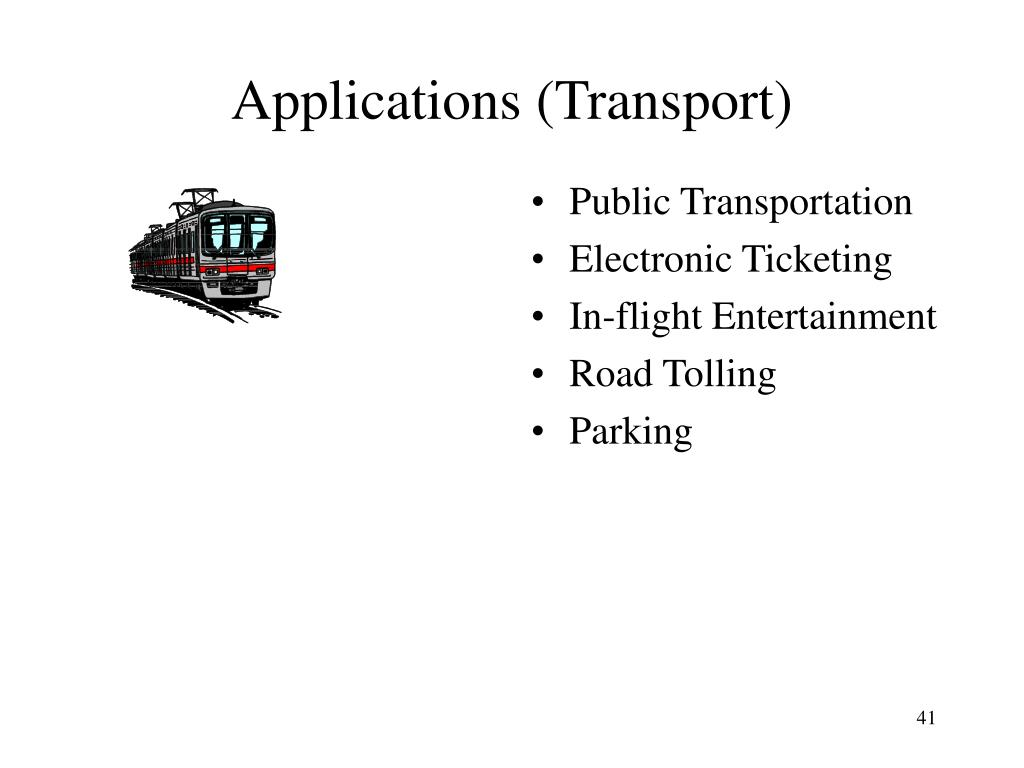 Applications (Transport)