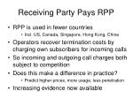 receiving party pays rpp