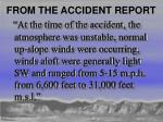 from the accident report
