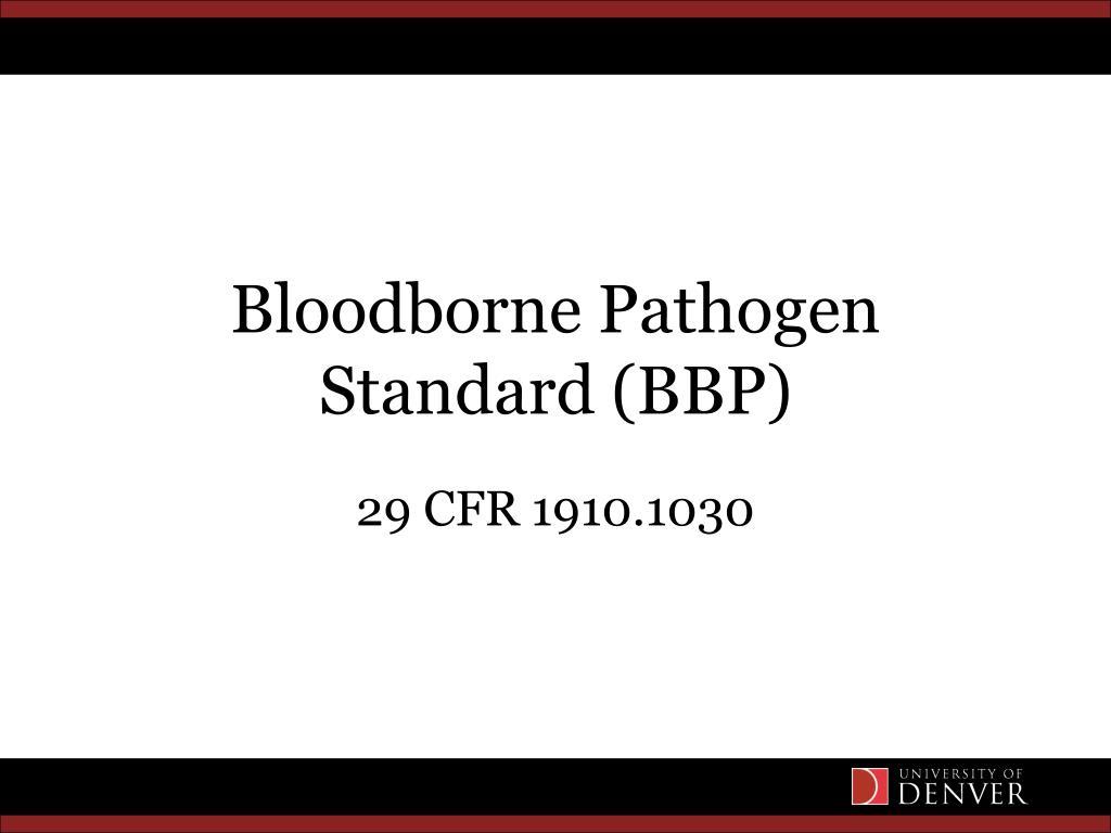 bloodborne pathogen standard bbp l.