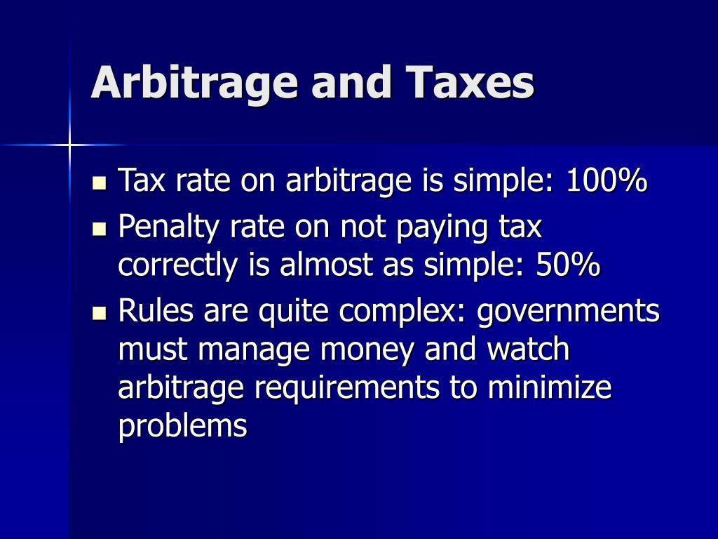 Arbitrage and Taxes