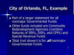 city of orlando fl example