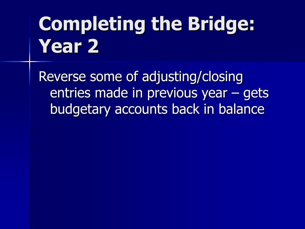 Completing the Bridge: Year 2