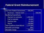 federal grant reimbursement