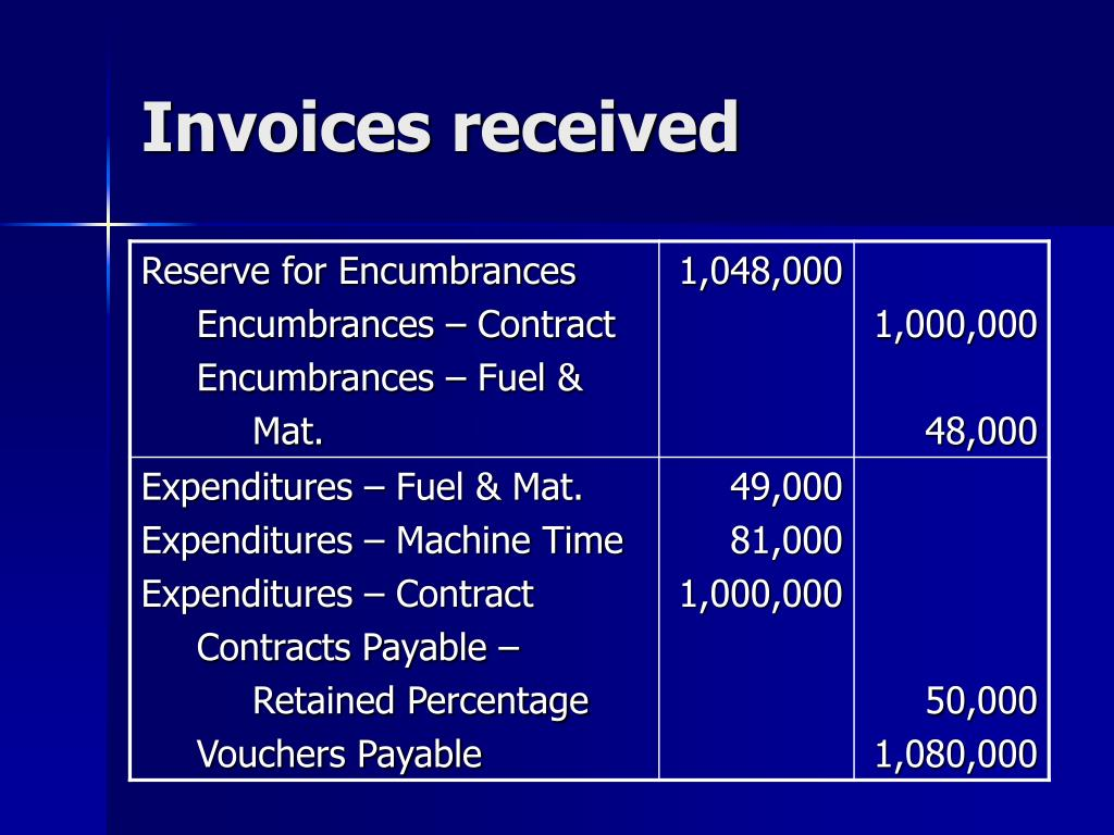 Invoices received