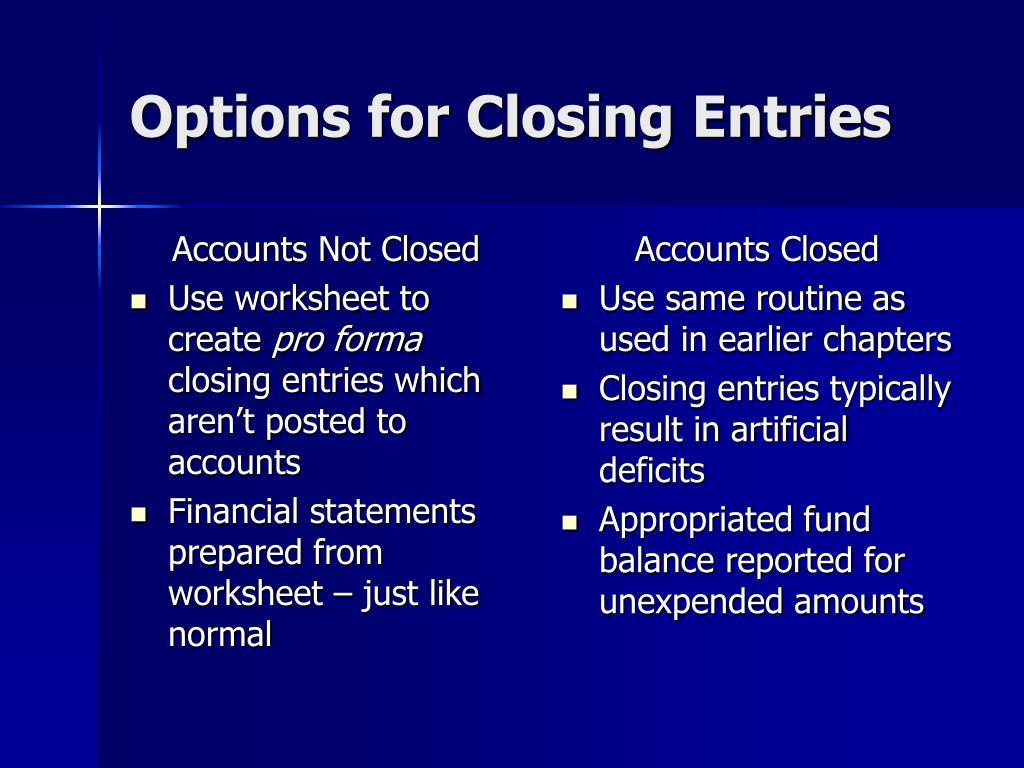 Accounts Not Closed