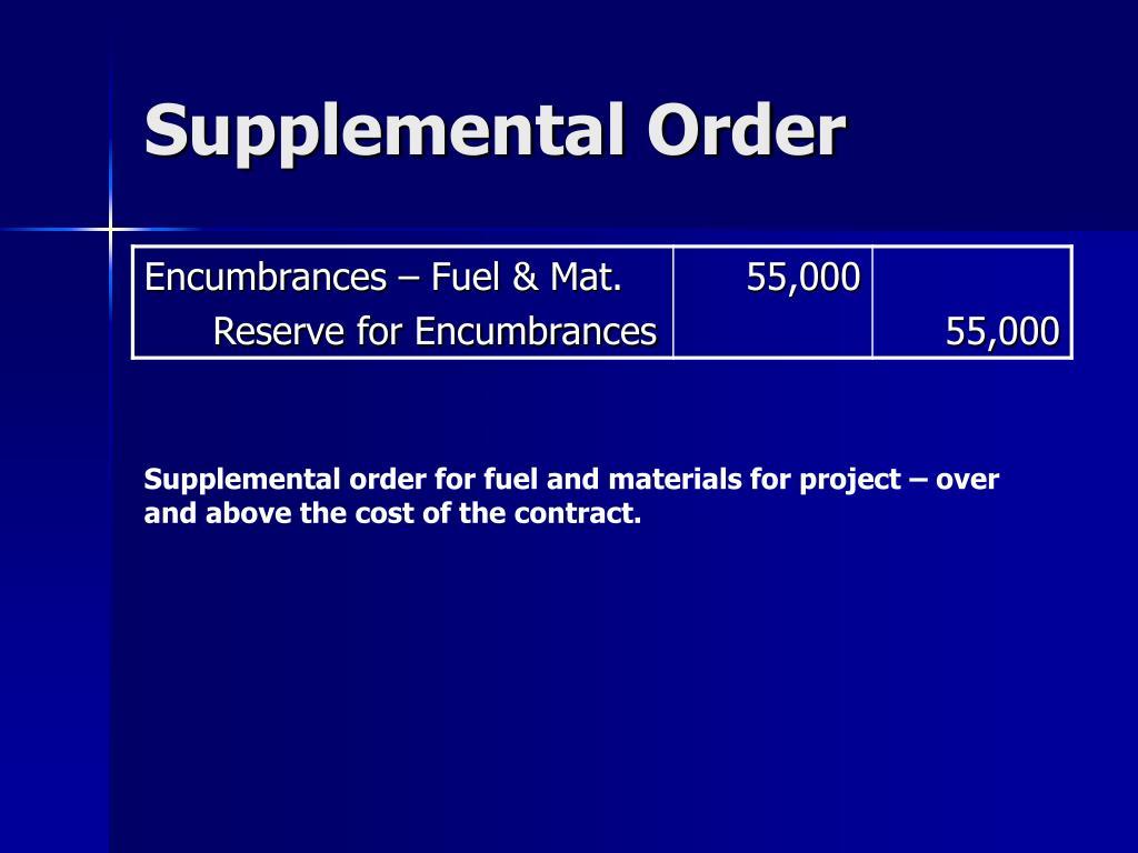 Supplemental Order