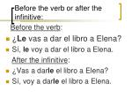 before the verb or after the infinitive