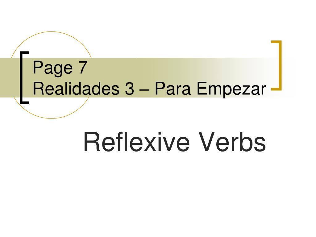 page 7 realidades 3 para empezar l.