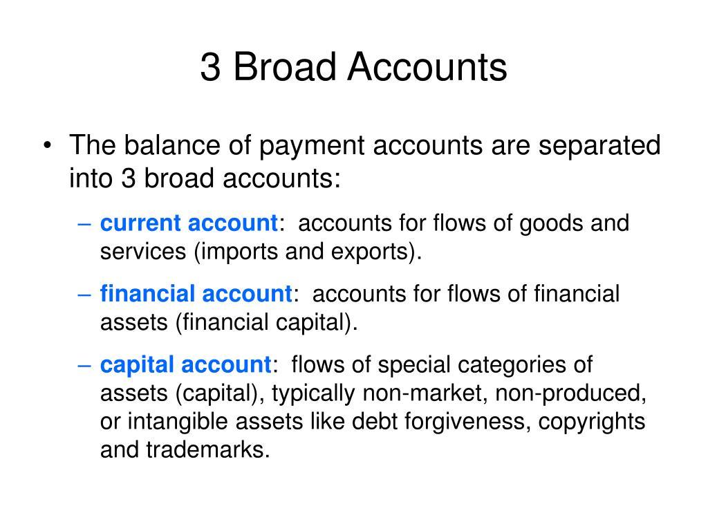 3 Broad Accounts