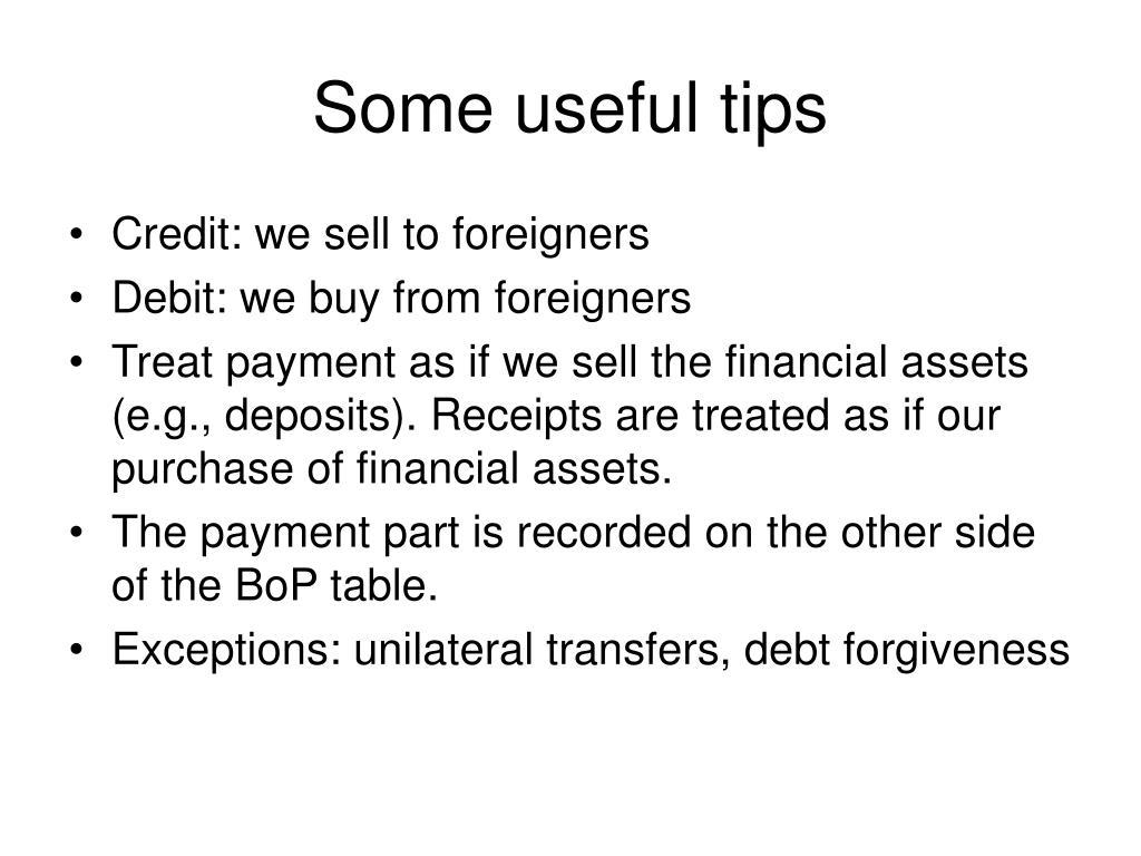 Some useful tips