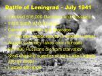 battle of leningrad july 1941