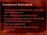 continued stalingrad