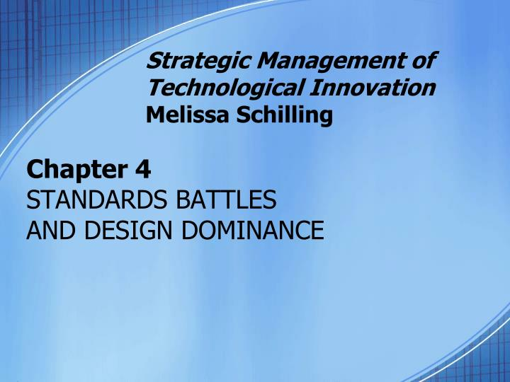 chapter 4 standards battles and design dominance n.