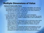 multiple dimensions of value2