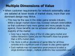 multiple dimensions of value7