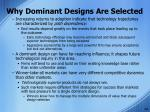 why dominant designs are selected6