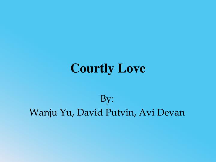 courtly love n.