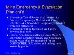 mine emergency evacuation plan cnt d12