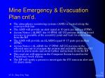 mine emergency evacuation plan cnt d13