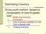 estimating inventory
