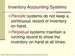 inventory accounting systems