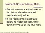 lower of cost or market rule