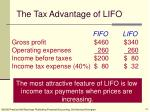 the tax advantage of lifo