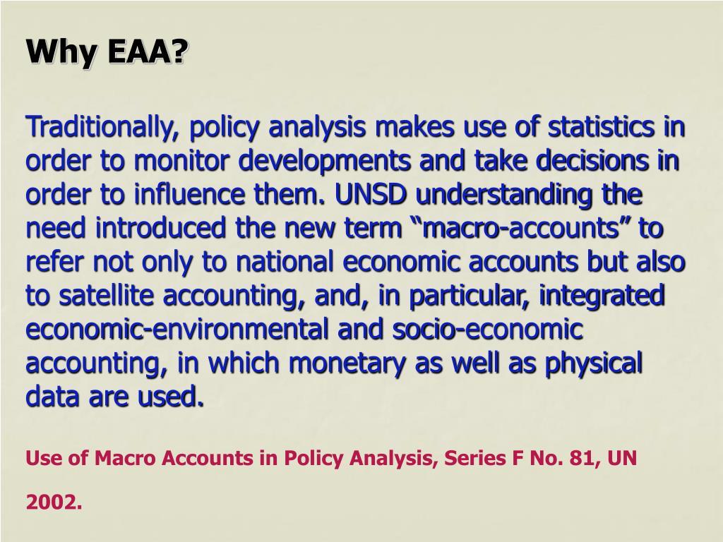 Why EAA?